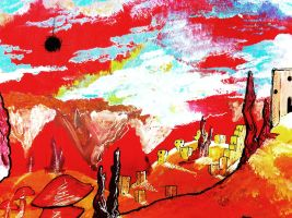 SR Painting Detail of Abandoned City by Yavanni