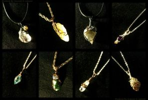 Wire Wrapped Pendants by SummerCLatimer