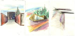 Architectural Watercolour Sketches by seanpt