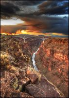 Rio Grande Gorge Bridge 2 by kimjew