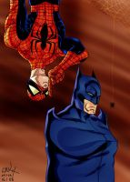 Spider-man meets Batman by Shadowrenderer