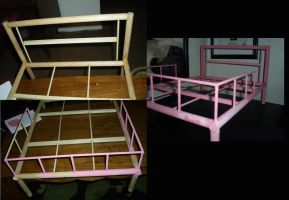 BJD Craft: Rina's Bed Unfinished by KunoichiAyu