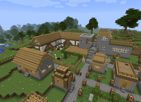 Village Update - Working on the Barn by DPrime123