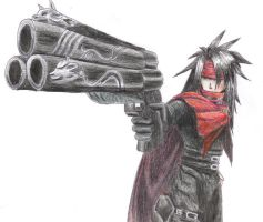Vincent Valentine by drawfox5