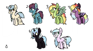pony adoptables (open ) by dratini12