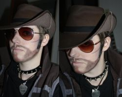TF2 Sniper Cosplay - MakeUp Test :: SIDEBURNS by DrunkenFangschrecke