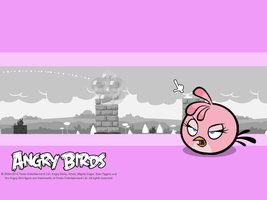 Angry Birds Pink Bird Wallpaper by Jeremiekent13