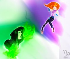 Kim vs Shego by Capricorn360