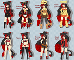 Annette's Outfits by Anini-Chu