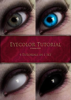 Eyecolor Tutorial - 4in1 by thalija-STOCK