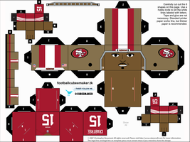 Michael Crabtree 49ers Cubee by etchings13