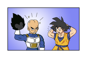 Vegeta's real head by Usodabada