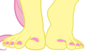 Fluttershy Feet (Improved) by TroyJr24