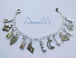 Personalized Charm Bracelet by Anne-Claire-Annelle