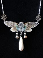 Ghost Cicada Necklace by Flos-Abysmi