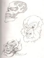 Skull monkey rose by Mr-P-P-Hed