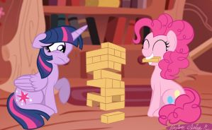 Why You Should Never Play Jenga With Pinkie Pie by Because-Im-Pink