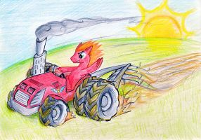 Big Mac plowing the fields by Arxuicy