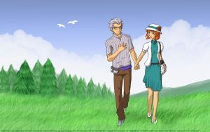 AW - Nice day for a walk by MapleRose
