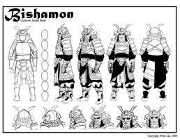 Bishamon Model Sheet by Peeeetah