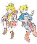 King Rin and Hero Len by SonicFan3