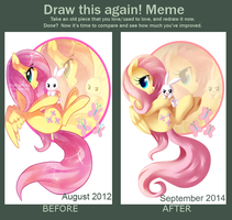Draw this Again Fluttershy by XNightMelody
