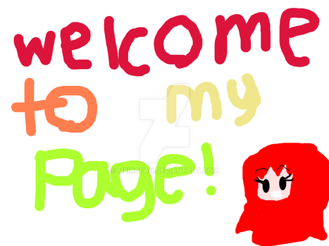 Welcome To My Page! by Meikofan