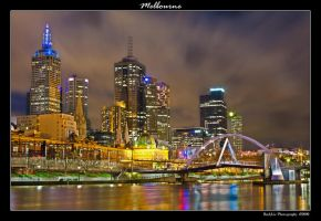 Melbourne nightlight by rylphotography
