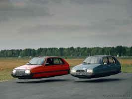 Flying Citroen Visas by JacobMunkhammar
