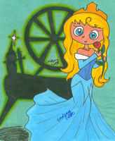 Gift: Aurora and the Spinning Wheel by LovesickLatte