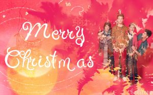 One Direction Merry Christmas Wallpaper by beliieve