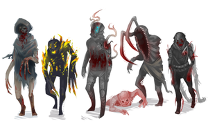 zombie types by zombieless
