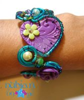 Wired Clay bracelet commish by colourful-blossom