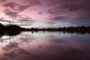 Killingworth Lake Sunset by scotto