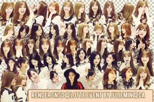 [PNG PACK] RENDER SNSD @LOTTE EVENT by JulieMin