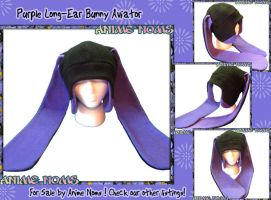 Long Ear Purple Black Aviator Bunny by AnimeNomNoms