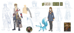 Final Fantasy XIV OCs WIP by Ya-e