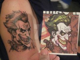 Joker tattoo by leecas