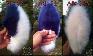 $5 Auction - Navy Blue and White Small Tail by TigeroftheWinds