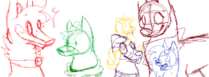 The Gang Together (WIP) by Khrys-Faolan