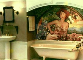 Decorative Painting Art Nouveau In Bathroom by christiano2211
