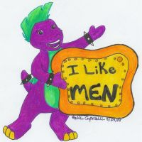 Barney likes men, Kiddies by HollieBollie