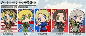 Allied Forces Keychain Set by neooki23
