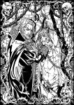 Dracula and his captive by Candra