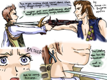 Balthier sketches by Prince-in-Disguise