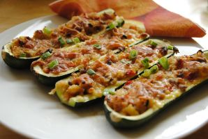 baked courgettes by bethdu