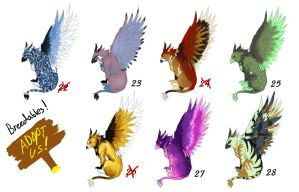 Griffin Adopts + Breedables 4 OPEN by AeternaAdoptables