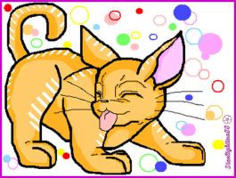 funny kitty_with *paint by Starlightina88