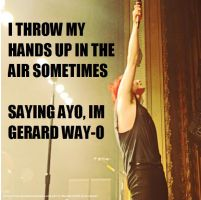 gerard way I throw my hands up by IkindaloveMCR