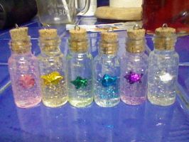 KAWAII BOTTLE STAR CHARMS by RoughReaill